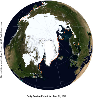 Arctic Ice Sea Extent Dec 2012