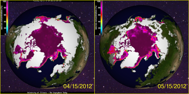 Arctic Sea Ice April 2012 May 2012