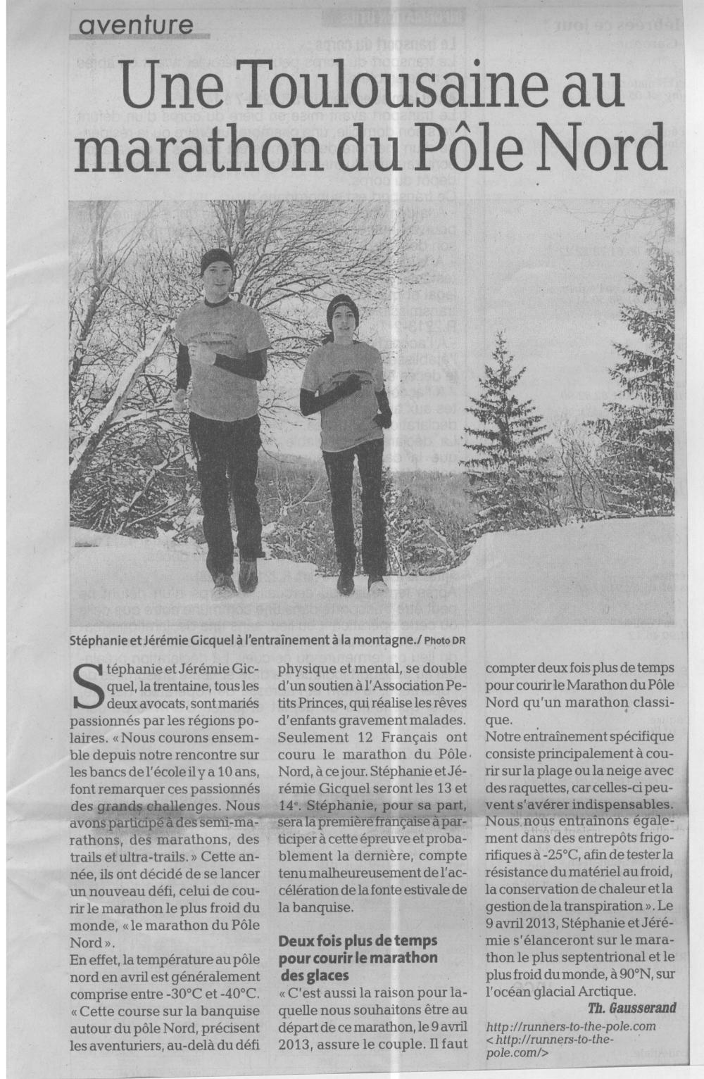 La Dépêche du Midi (15 février 2013) - copie