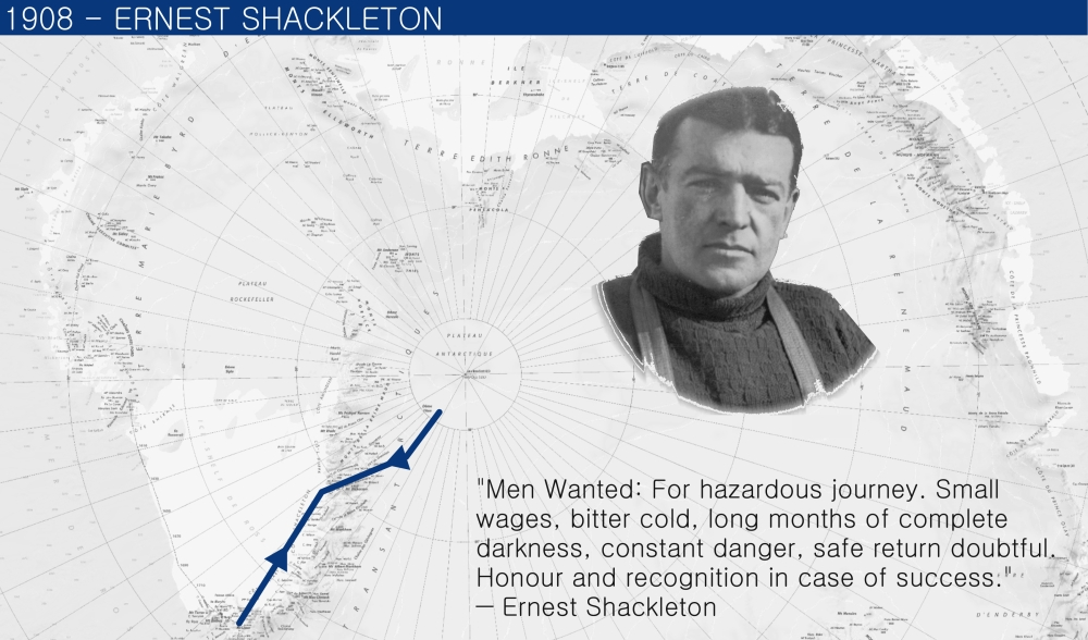 1908 Ernest Shackleton