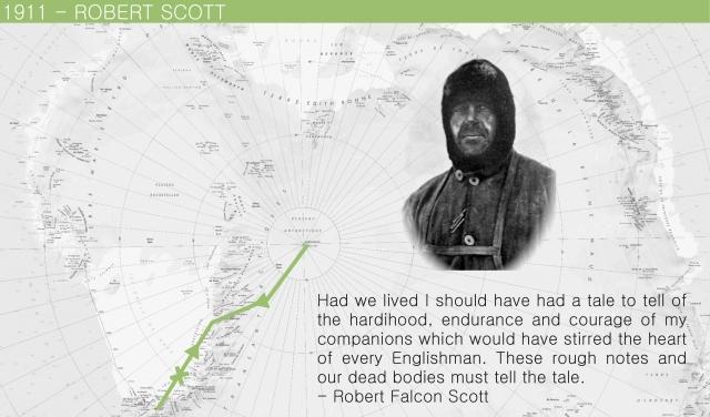 1911 Robert Scott Map