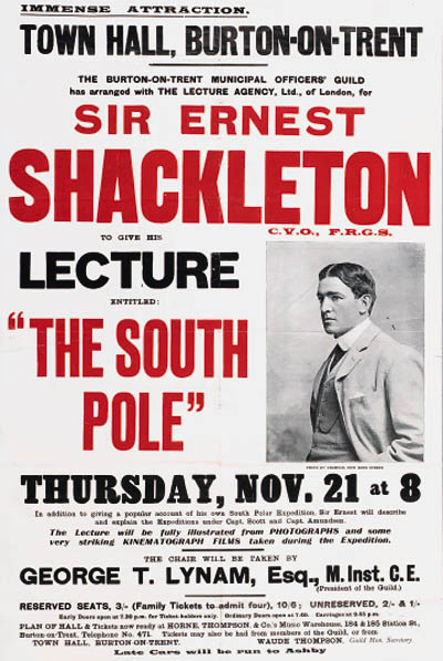 Expe Nimrod Shackleton-Conference South Pole